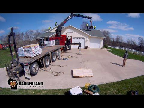Badgerland Exteriors Roofing Timelapse 2021