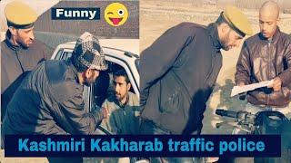 Kashmiri kalkharab traffic police very funny video