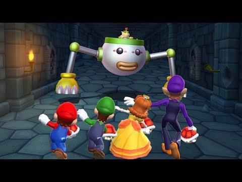 Mario Party 9 - Minigames - Mario VS Luigi VS Daisy VS Waluigi