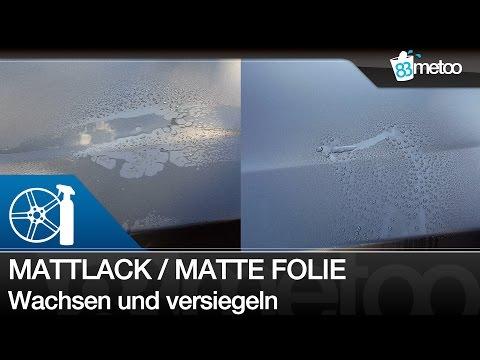 Mattlack oder matte Folie wachsen und versiegeln - Matt foliertes Auto wachsen - Mattlackpflege