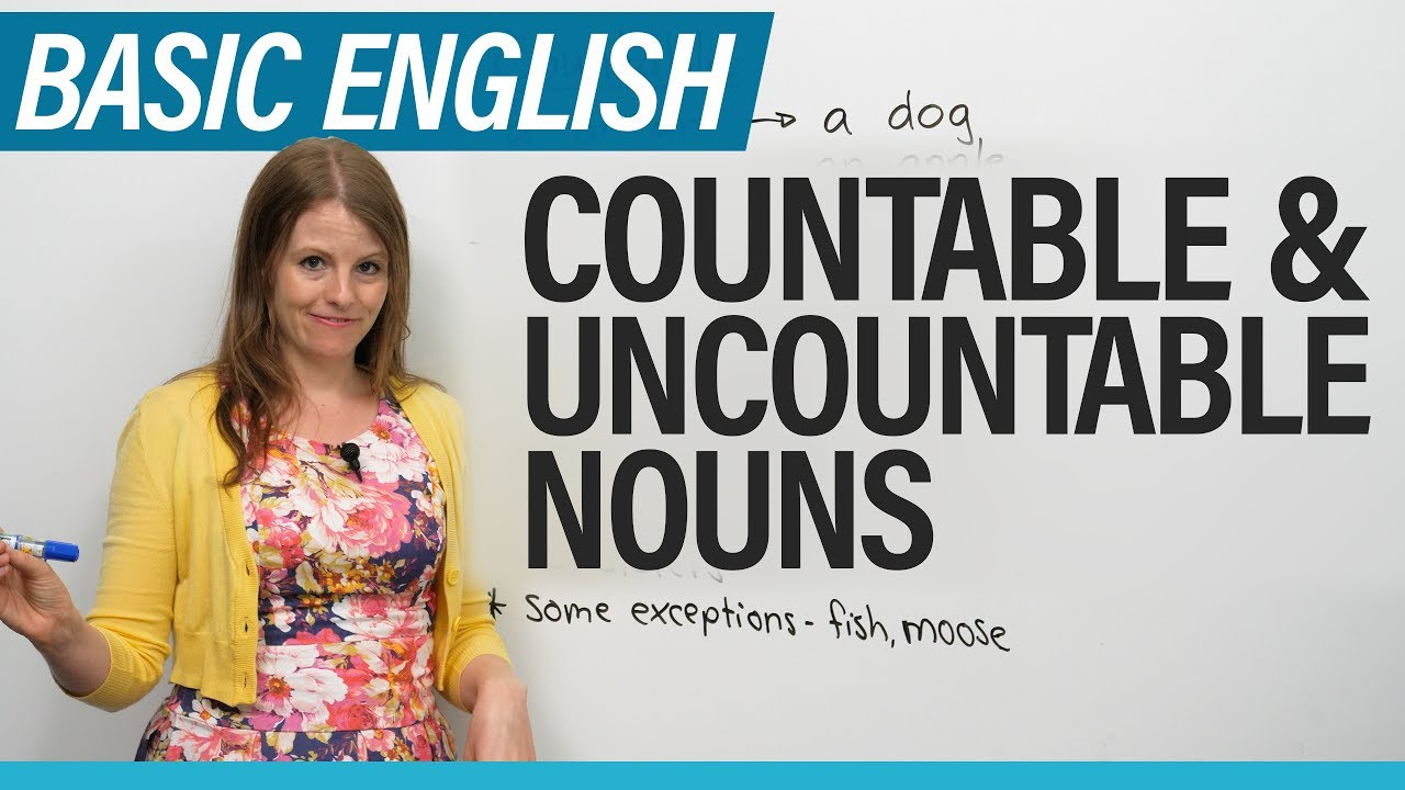 English for Beginners: Countable & Uncountable Nouns - YouTube