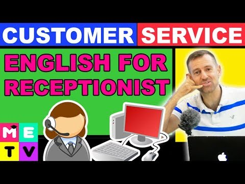 English for Receptionist - YouTube