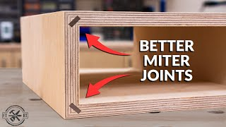 4 Steps to Easy and Strong Miter Joints | Woodworking Tips