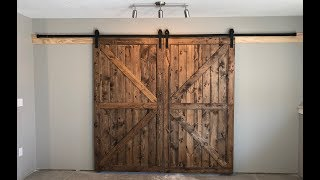 Building Interior Rustic Barn Doors On A Budget  DIY How To Build