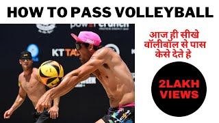 How to pass Volleyball with Underhand in Hindi | Developed your volleyball skills and techniques