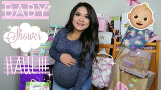 HUGE BABY SHOWER HAUL!(BABY GIRL)