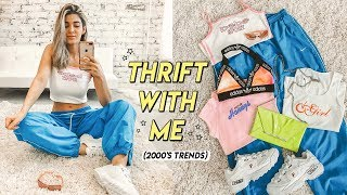 THRIFTING 2000s TRENDS ☆ juicy couture, ed hardy, nike + more!