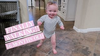 BABY GIRL FINALLY WALKING AT 16 MONTHS! || VLOGMAS 2017