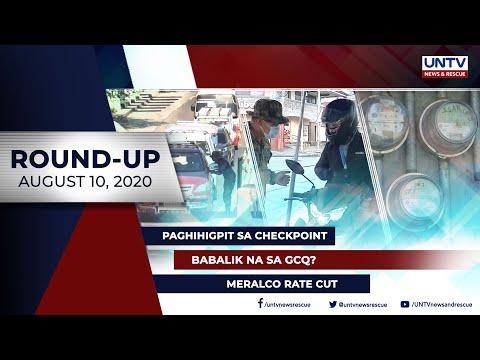 [UNTV]  UNTV NEWS ROUNDUP: Mga balitang dapat mong malaman (August 10, 2020)
