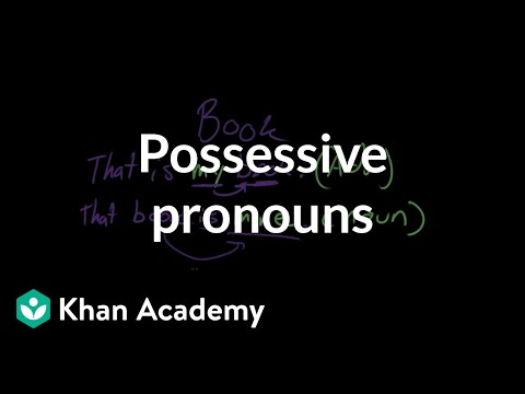 Possessive pronouns | The parts of speech | Grammar | Khan Academy