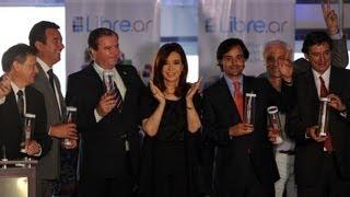 preview picture of video '13 de DIC. Inauguración 17 estaciones TV Digital Abierta en ARSAT. Cristina Fernández'