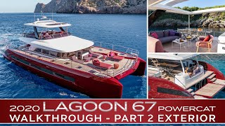 2020 Lagoon SIXTY 7 Power Catamaran In-Depth Walkthrough | PART 2: Exterior