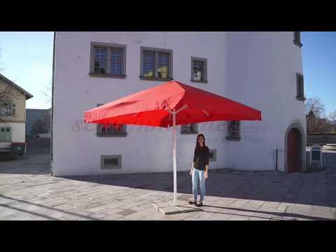 Sonnenschirm mit Kurbel-Öffnung