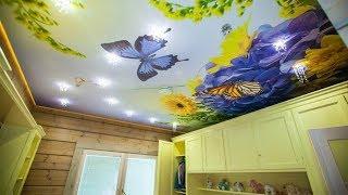 Натяжные потолки с фотопечатью 016 от компании ЧТПУП «МегаЛайнСтиль» - видео