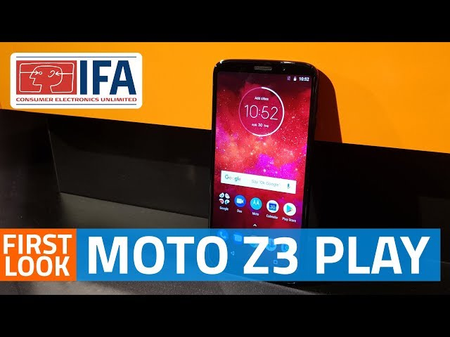 Moto Z3 Play With One Button Nav Bar, 18:9 AMOLED Screen