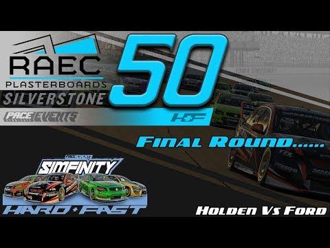 iRacing - RAEC Plasterboards Silverstone 50  - SimFinity Hard N Fast -  V8 Round 10