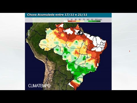 Grande frente fria avança pelo Brasil no fim de semana