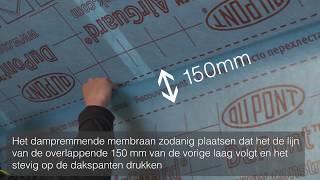 Luchtdichte installatie van AirGuard® dampremmend membraan met Tyvek® tapes