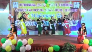 Beautiful dance in Uttaranchal P.G. College of Bio-Medical Sciences & Hospital Dehradun