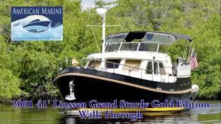 SOLD 2001 41' Linssen 410 Grand Sturdy Gold Ed. Walk Through HD By American Marine