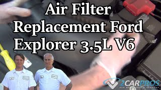 Air Filter Change Ford Explorer 2011-Present