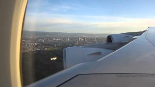 Thai Airways A380 beautiful landing at Frankfurt (TG 920)