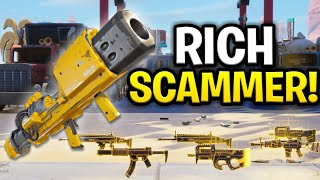 Super Rich Dumb Scammer Scams Himself! (Scammer Get Scammed) Fortnite Save The World