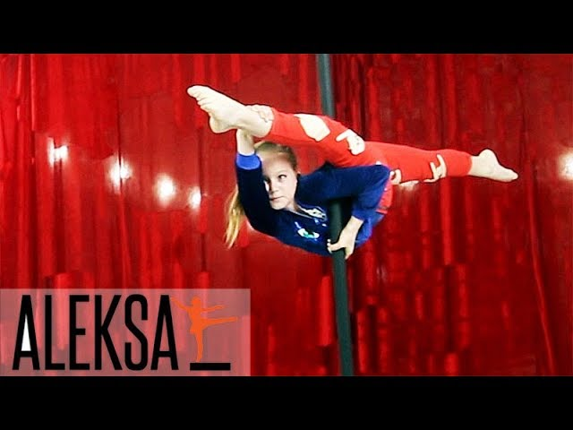 Китайский пилон.Танец на китайском пилоне. Pole Dance (Пол Денс)-Pole Kids. Мария Грибенко, ALEKSA