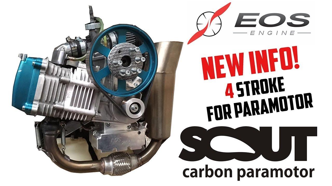 Prototipo paramotor Scout con motor EOS 4 tiempos