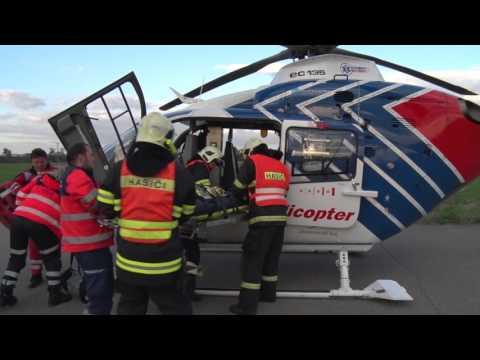 Spolupráce IZS u zásahu vrtulníku LZS