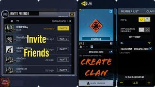 How To Create Clan/Invite Friends/Join Clan in Call of Duty Mobile