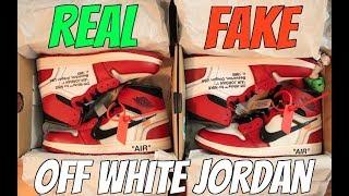 "REAL VS FAKE: JORDAN 1 CHICAGO ""OFF WHITE"" (CRAZY COMPARISON)"