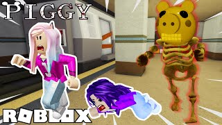 ESCAPE THE SUBWAY FROM SKELLY PIGGY! / Roblox: Piggy Chapter 7