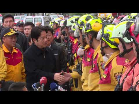 Premier Lai Ching-te visits Hualien to inspect restoration of municipal water