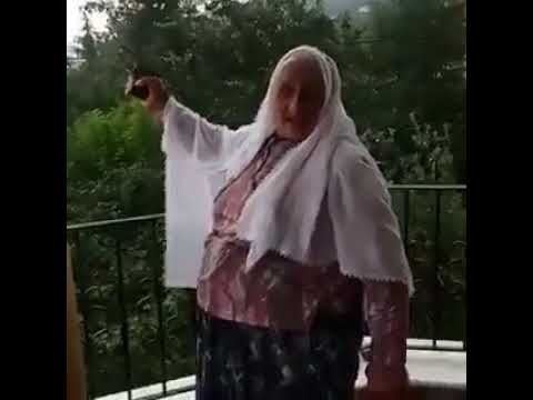 Granny Firing A Gun Like A Professional - Gunfire 9mm