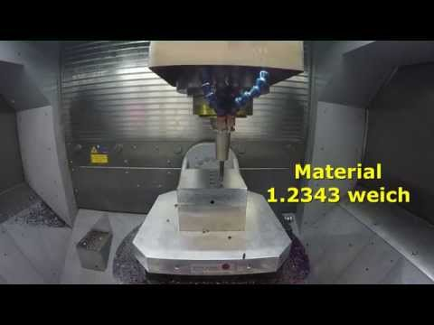 Bohren auf High Speed Eagle V9 Fräsmaschine