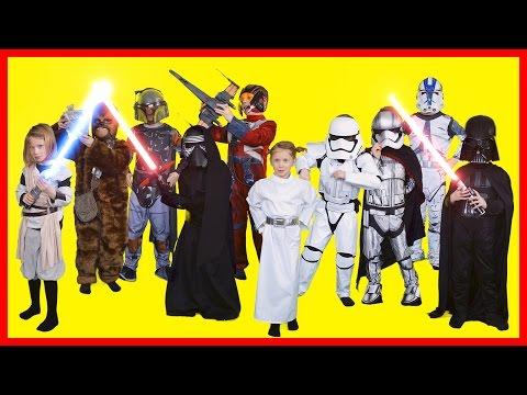 Star Wars Kids Costumes - Darth Vader, Chewbacca, Kylo Ren, Stormtrooper, Boba Fett, Princess Leia