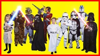 Star Wars Kids Costumes - Darth Vader, Chewbacca, Kylo Ren, Stormtrooper, Boba Fett, Princess Leia