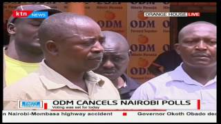ODM supporters share their disappointment over the cancellation of the Nairobi nominations