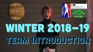 GVBL Winter 2018-19 Team Introduction