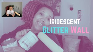 Iridescent GLITTER WALL | Watch To The End | Paint With Me | Unicorn Sparkle Paint