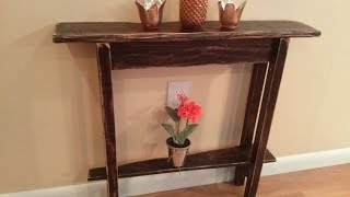 Woodworking Rustic Accent Table (MAker Video)