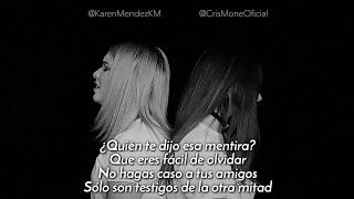 Karen Méndez Ft. Cris Moné   Besos En Guerra (Cover Morat, Juanes) (Letra)