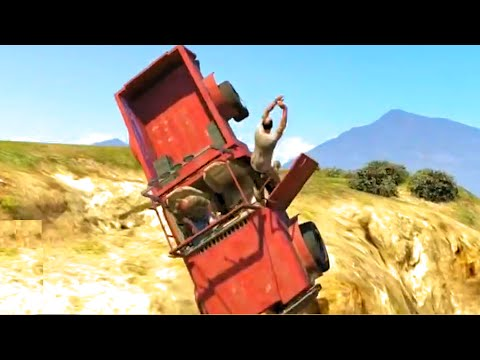GTA V Unbelievable Crashes/Falls - Episode 06