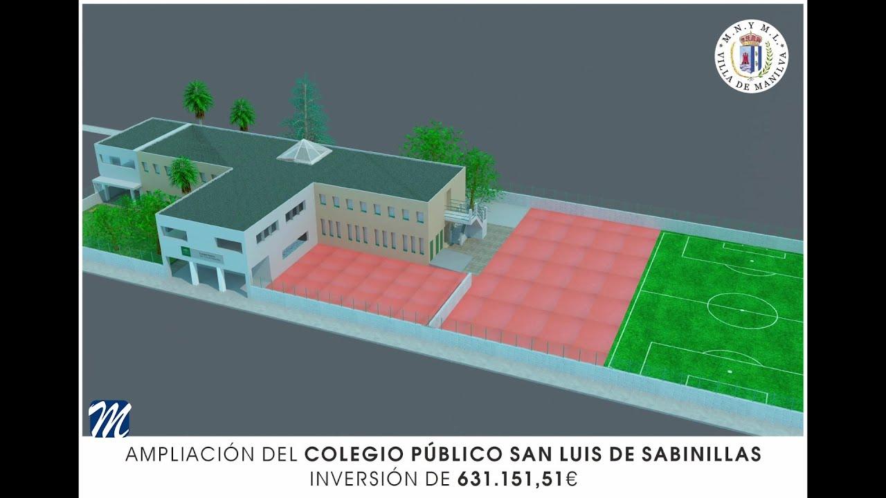 Dotación de 631.151,51 € para la ampliación del colegio de Sabinillas
