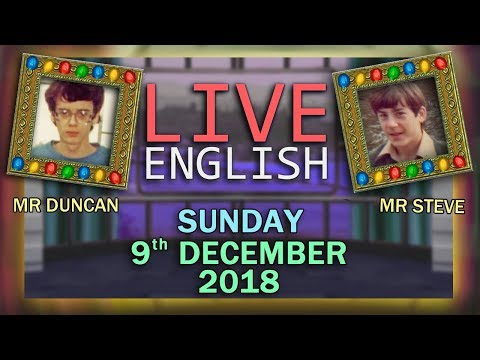 Social Media Trends - Live English Learning  - Christmas Lights - 9/12/18