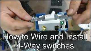 How to Wire and Install 4-way Switches