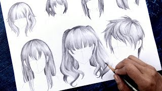 How To Draw Anime Hair NO TIMELAPSE [Anime Drawing Tutorial For Beginners]