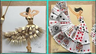 Creative Fashion Design   Every Simple Object Drawing & Art  