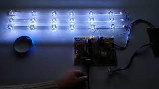 """Подсветка LG Innotek DRT 3.0 32"""" _A type (B), 6916L-2223A, 6916L-2224A для телевизора LG 32LB551U от компании art-techservice - видео"""